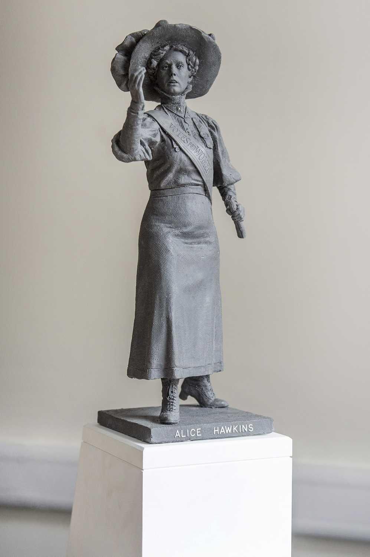 Sean Hedges-Quinn Bronze Maquette Sculpture of Alice Hawkins, English Suffragette Maquette of