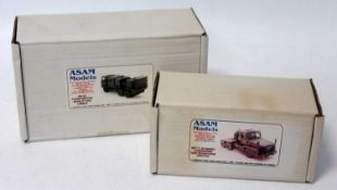 An Asam Models 1/48 sale white metal military kit group to include an SM122 Foden Medium Mobility