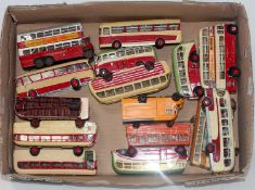 15 various resin, plastic, card and diecast/later adapted kit built public transport and
