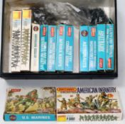 One box containing a quantity of Airfix H0/00 scale mixed military and civilian figures, some housed