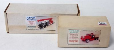 An Asam Models and Hart Smith Models Ltd 1/48 scale white metal Kenworth Commercial Vehicle group to