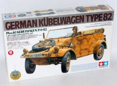 A Tamiya model No. 56012 rare 1/16 scale radio controlled model of a Kubelwagen type 82 military