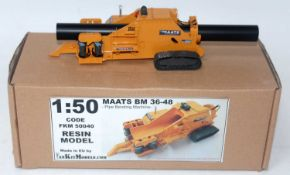 A Fan Kit Models 1/50 scale resin factory built model of an FKM 50040 Maats BM36-48 Pipe Bending