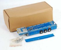 A Hi Mo Bo 1/50 scale white metal and resin kit built model of a Langendorf flat liner trailer,