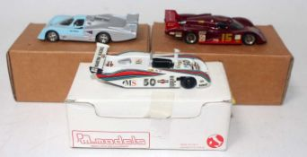 An Esdo, Tenariv, and PM Models 1/43 scale resin and white metal Le Mans race car group, all kit