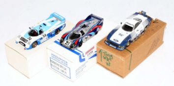 A Provence Moulage, BAM, and Starter Kits white metal and resin motor sport race car group to