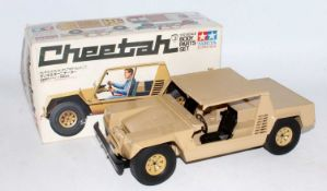 Two boxed and loose Tamiya Model No. SP106 Lamborghini Cheetah models, one housed in the original