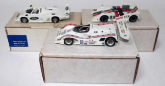 A Tenariv and MA Scale Models 1/43 scale motor sport racing vehicle group, examples to include an MA