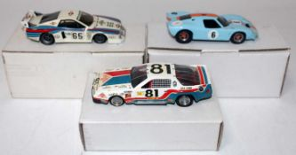 A Tenariv BAM & Automany 1/43 scale white metal and resin kit built and motor sport car group to