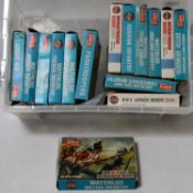 15 various boxed Airfix 00 and H0 scale plastic military and civilian figure soldiers and action