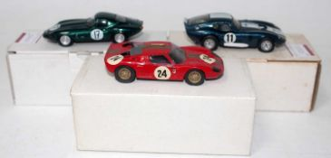 A Tenariv and Vroom 1/43 scale white metal and resin motor sport racing saloon group, to include a