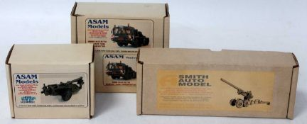 An Asam and A Smith Automodels 1/48 scale boxed unmade military kit group to include an SM83 Long