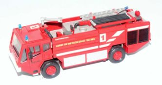 A Smith Auto Models white metal and resin factory built? Unipower four wheeled airport crash tender,
