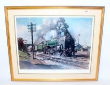 'Evening Star' print by Cuneo last steam locomotive built for British Railways, 150/850 landscape