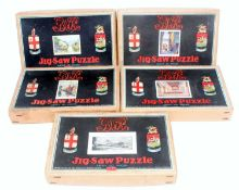 Five various boxed Great Western Railway jigsaws, unchecked for completeness, to include St David'