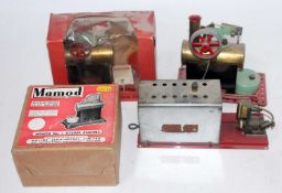 A Mamod miniature live steam boxed and loose steam engine group to include a Minor 1 boxed steam