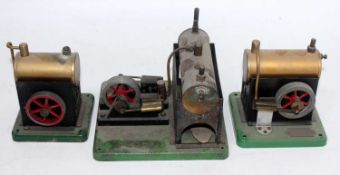 An ESL stationary steam engine group to include three examples, all appear complete, various
