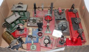 One tray containing a large quantity of various mixed live steam workshop accessories to include