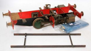 "Rolling chassis 5"" gauge live steam chassis for 0-4-0 tank loco complete with wheels, buffers,"