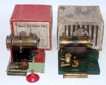 A Bowman Models of Dereham card boxed stationary steam engine group to include Model No. PW201 and