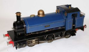 "A 7¼"" gauge live steam, 0-6-0 saddle tank locomotive finished dark blue No. 05 'Holmside'"