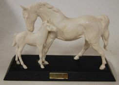 A Beswick figure group 'Spirit of Affection', white matt finish, model No.2536, h.21cmCondition