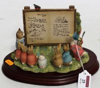 A Border Fine Arts 'Beatrix Potter Tableau', h.15cm, boxed with certificateCondition report: In good