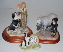 """Three Border Fine Arts figures to include Heydays, """"First Prize"""" A3781, The James Herriot Collection"""