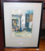 Arthur E. Law - The Bothy, watercolour, signed and dated 1924 lower left, 33 x 24cm
