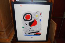 After Miro - lithograph in colours, 38 x 28cm