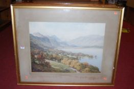 Harold Sutton Palmer (1854-1933) - Sheep-grazing on a loch bank, lithograph, signed lower left, 44 x