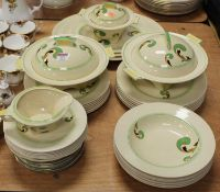 A Royal Doulton Art Deco part dinner service in the Lynn pattern, D5204; together with eight