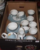 A Royal Doulton eight-place setting tea and dinner service, in the Rose Elegans pattern,