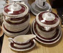 A Crown Ducal porcelain part dinner service