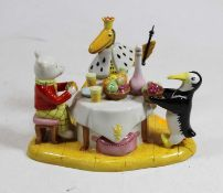 A Royal Doulton figure 'Rupert & the King', h.12cm, with certificateCondition report: Condition is