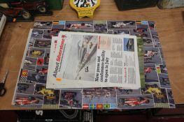 A collection of various mixed raceway and British Motor Racing posters and ephemera to include