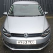 A Volkswagen Polo 1.4, Match edition, registration AV63 YCG, five-door hatchback, in silver, 18,