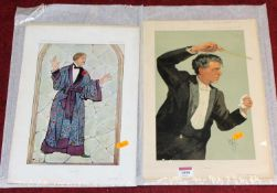 A collection of unframed Vanity Fair printsCondition report: 17 in total.