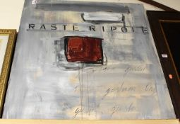 Contemporary school - Rasteripole, acrylic on canvas (a/f), signed with monogram and dated '99 lower