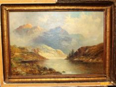 Francis E Jamieson (1895-1950) highland landscape, oil on canvas signed lower left, 40 x 59cm
