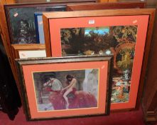 Assorted reproduction prints, to include Pre-Raphaelite examples