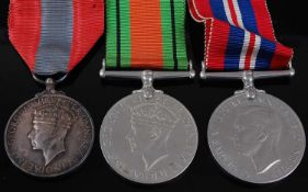 A George VI Imperial Service medal, naming CHARLES WILLIAM MIDDLETON, together with WW II Defence