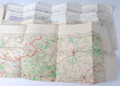 A collection of WW II R.A.F. Ordnance Survey maps to include North Scotland, England North East