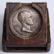 A Victorian Smithfield Club silver agricultural medal, engraved to the edge AS BREEDER BEST BEAST IN