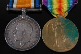 A WW I British War and Victory pair, naming LIEUT. F.W. DUGDALE. (2)