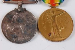 A WW I British War and Victory pair, naming 46580 PTE. A. CLEMENTS. THE QUEEN'S R. (2)