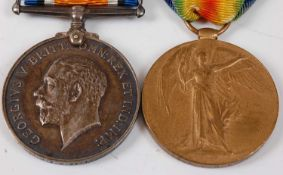 A WW I British War and Victory pair, naming 199127 GNR. H.V.C. WITTCH. R.A. (2)