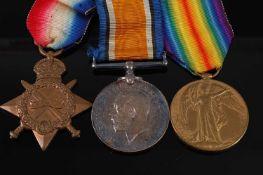A WW I trio to include 1914-15 Star, naming 8627 L. CPL. E. STEADMAN. R. IR: REGT:, British War