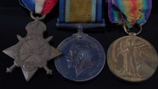 A WW I trio to include 1914-15 Star, naming 40413 GNR: A.H. GREEN. CAN: FD: ART:, British War and