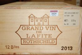 Château Lafite Rothschild 2013, Pauillac, twelve bottles (OWC) Provenance: From one of the